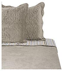 Quilt Velvet gris 2 plazas