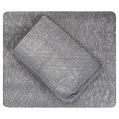 Quilt Stone Washed gris 1,5 plazas