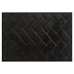 Piso de baño Foam Ladrillo negro 43x61 cm