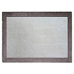 Piso de baño Foam Borde gris 43x61 cm