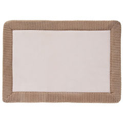 Piso de baño Foam Borde beige 43x61 cm
