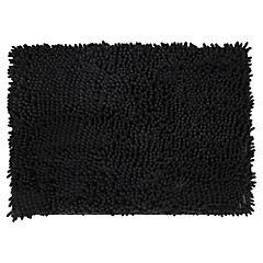Piso para baño poliéster 43x61 cm Negro