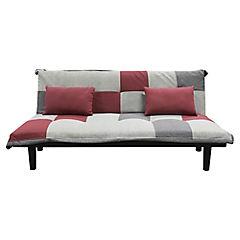 Futón 71x180x85 cm rojo gris