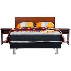 Box americano base dividida 2 plazas + textil + mueble Dormiflex