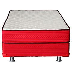 Box americano 1 plaza rojo Dormiflex