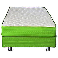 Cama americana base normal 1 plaza verde