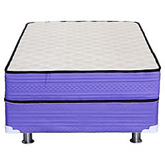Cama americana base normal 1,5 plazas violeta