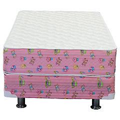 Box americano 1 plaza rosado Dormiflex