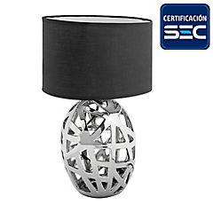 Lámpara mesa Aida 1 luz E27 negro
