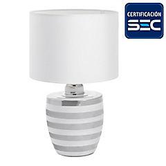 Lámpara de mesa Mariana 1 luz E27 plata