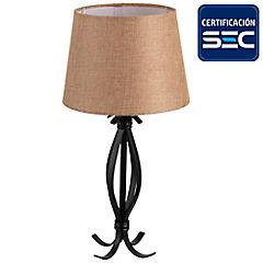 Lámpara mesa Helena 1 luz E27 beige
