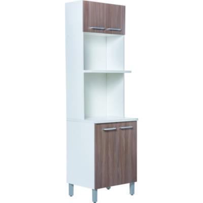 Mueble para microondas 4 puertas 60x207x48 5 cm mdp for Mueble para encastrar horno y encimera