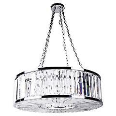 Lámpara de colgar tambor cristal