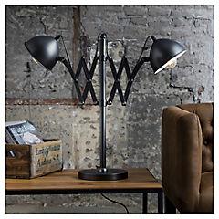 Lámpara de mesa extensible doble