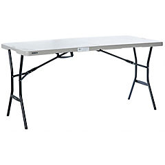 Mesa plegable 153 cm gris