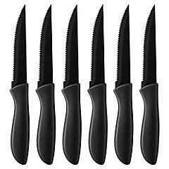 Set de 6 cuchillos negros
