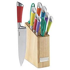 Taco con cuchillos de colores