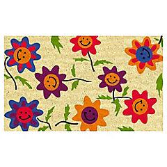 Limpiapiés Flores 45x75 cm