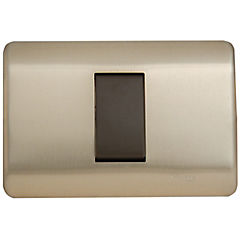 Interruptor 9/12 Simple Iridium, bronce armado
