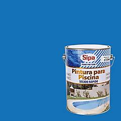 Pintura para piscina satinado 1 gl Azul