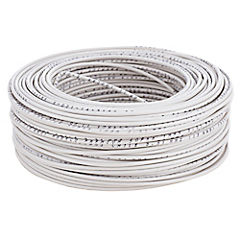 Cable eléctrico 12 AWG 0,6 kW 100 m Blanco