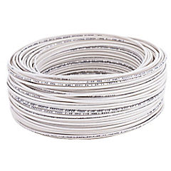 Cable eléctrico 14 AWG 0,6 kW 100 m Blanco