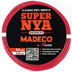 Alambre de cobre aislado 1,5 mm2 Rojo 50 m