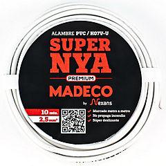 Premium NYA H07v-u 2,5 blanco 10m