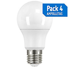 Pack 4 Unidades Ampolleta Led 5.5W-30W E27 Lf