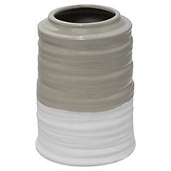 Florero bicolor ceramica H22X17Cm