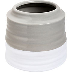 Vasija bicolor cerámica H12X14,5