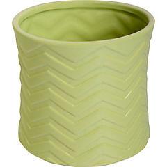 Vasija Zigzag cerámica H15X17