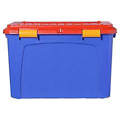Baúl 123 litros 52x43x80 rojo - azul