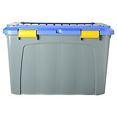 Baúl 123 litros 52x43x80 gris - azul