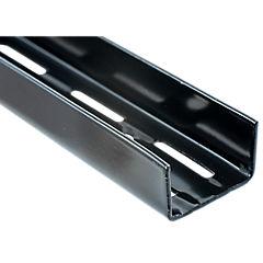 Pilar ranurado doble 192 cm negro