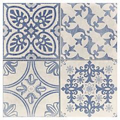 Porcelanato 44x44 Skyros Deco blanco 1,37