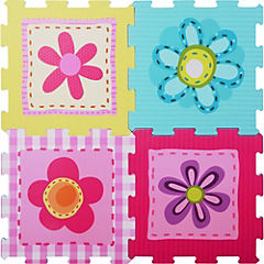 Alfombra infantil9 piezas flores