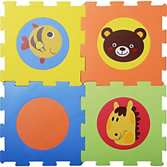 Alfombra infantil 9 piezas animales