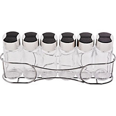 Set de especieros 6 unidades vidrio