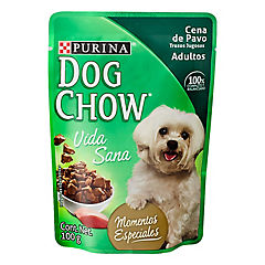 Alimento para perros trozos pavo 100 g