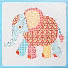 Canvas 28x28 cm infantil elefante