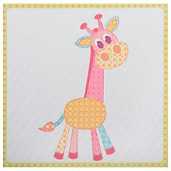 Canvas 28x28 cm infantil jirafa