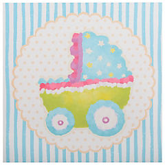 Canvas 28x28 cm Bebé coche guagua