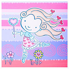 Canvas 28x28 cm infantil 1 niña