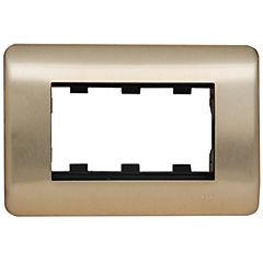 Placa para 3 módulos iridium bronce