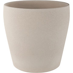 Macetero de cerámica 23 cm Beige