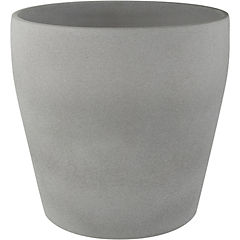 Macetero Messina stone gris 19 cm