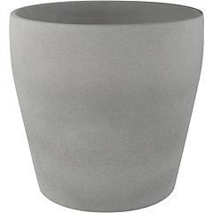 Macetero de cerámica 23 cm Gris