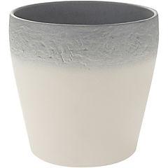 Macetero Mestre gris/crema 19 cm