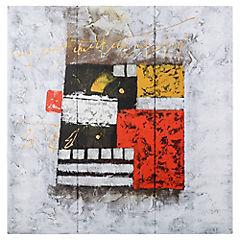 Óleo abstracto 80x80 cm Ro003